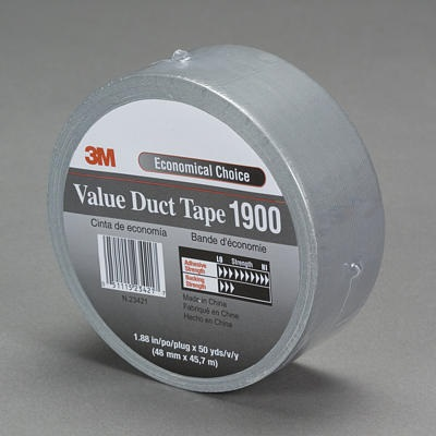 3M 70006412426 Silver Polyethylene Over Cloth Backing Duct Tape, 1.88 Inch W X 50 Yard L X 5.8 Mil T 70006412426 3-M70006412426