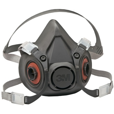 3M 6300 Thermoplastic Elastomer Low Maintenance Half Facepiece Reusable Respirator, Large, Yolk And Cradle Suspension 70070315554 3-M70070315554