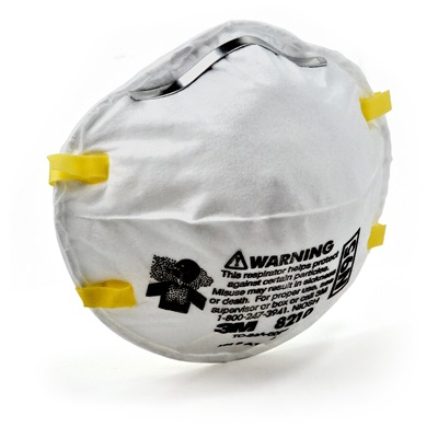 3M 8210 Dual Elastic White Disposable Particulate Respirator, N95 Filter Class 70070614394 3-M70070614394