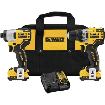 Dewalt X12vmax Impact Driver Kit 3/8 Brush/Cordless Kit DCK221F2 DEWDCK221F2
