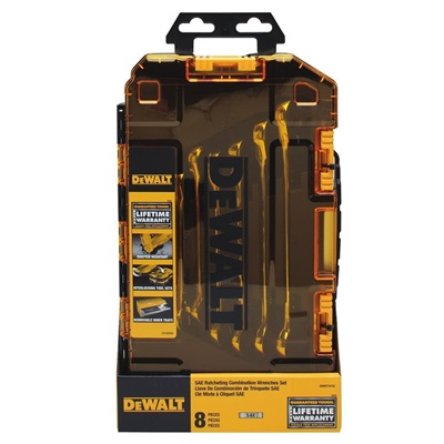 Dewalt Tough Box 8 Pc Sae Rat. Combo. Wrenchn Set DEWDWMT74733 DEWDWMT74733