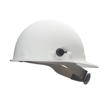 Fibre-Metal<Sup></Sup> Supereight E2qrw01a000 White Thermoplastic Front Brim Hard Cap, 8 Point Ratchet And Quick-Lok Mounting Blocks E2QRW01A000 FIBE2QRW01A000