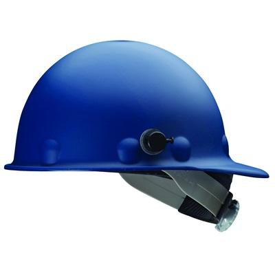 Fibre-Metal<Sup></Sup> Supereight E2qrw71a000 Blue Thermoplastic Hard Cap, 8 Point Ratchet And Quick-Lok Mounting Blocks E2QRW71A000 FIBE2QRW71A000