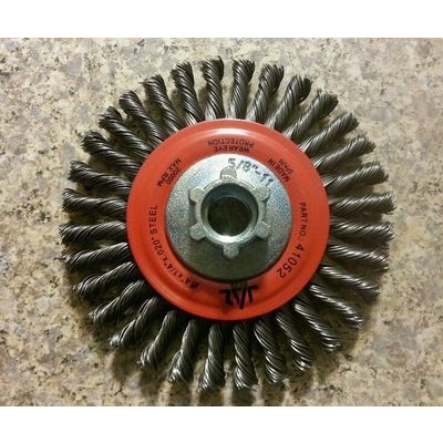 Jaz 41052B Knotted Wire Wheel Brush, 4 Inch Dia., 0.02 Inch Tempered Steel JAZ41052B JAZ41052B