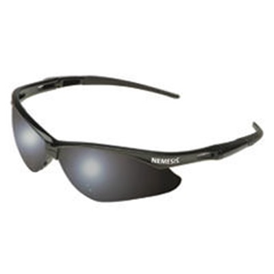 Kimberly Clark Jackson Nemesis 25688 Smoke Mirror Polycarbonate V30 Series Sporty Wraparound Safety Glasses, Universal 138-25688 KCP25688