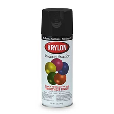 Krylon K01601 12 Oz Aerosol Can Water Based Acrylic Lacquer Spray Paint Gloss Black K01601