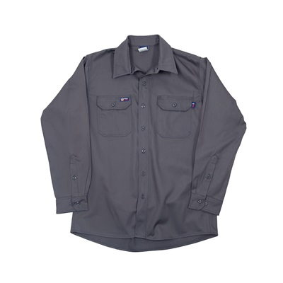 Lapco Igr7 Large Reg.7Oz Fire Resistant Gray Shirt 100% Cotton IGR7LARGEREG LAPIGR7LARGEREG