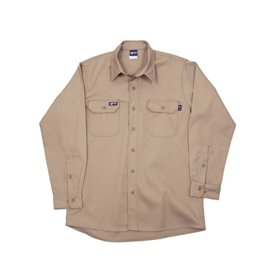 Lapco Ikh7 100% Cotton Flame Retardant Uniform Shirt, Khaki, Large, Button, 7 Oz IKH7LARGEREG LAPIKH7LARGEREG