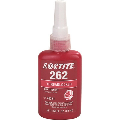Loctite 262 26231 Red High Strength Threadlocker, 50 Ml Bottle 26231 LOC26231