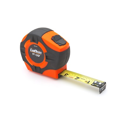 "Lufkin 1"" X 33' Hi-Viz Orange P1000 Tape Measure PHV1433 LUFPHV1433"