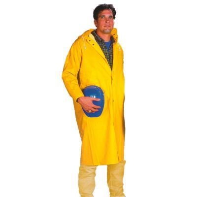 Neese Industries 1650 Pvc Coated Polyester Economy Rain Coat, Yellow, Large, 48 Inch L, Snap Front NEE1650C-L NEE1650C-L