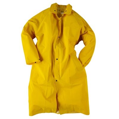 Neese Industries 1650 Pvc Coated Polyester Economy Rain Coat, Yellow, Small, Snap Front NEE1650C-S NEE1650C-S