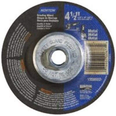 Norton Metal 66252843609 24 Coarse Grit Alo2 Type 27 Depressed Center Grinding Wheel, 4-1/2 Inch X 1/8 Inch X 5/8-11 66252843609 NOR66252843609