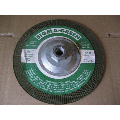 pack of 5 7 Type 28 Aluminum Oxide Depressed Center Wheels 5//8-11 Arbor 8500 Max RPM 1//4-Thick