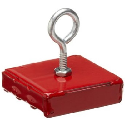 magnet source 07206 red magnet 2 square x 1 2 deep 40 lb pull