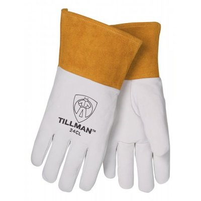 Tillman 24C Top-Grain Kidskin Leather Welding Gloves, Pearl, Medium, 12 Inch L, Straight Thumb 24CM TIL24CM