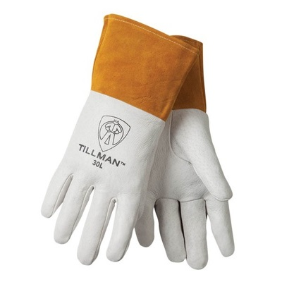 Tillman 30 Top-Grain Pigskin Welding Gloves, Pearl, Large, Straight Thumb 30L TIL30L
