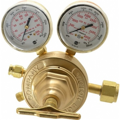 Victor 0781-0527 Forged Brass 3-Gas Heavy-Duty Single Stage Sr 450 Professional Regulator, Cga 540, 5 - 125 Psig 0781-0527 VIC0781-0527