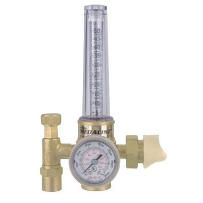 Victor Cutskill 0781-2723 Machined Brass 3-Gas Light Duty Single Stage Hrf 1400 Flowmeter, Cga-580, Up To 50 Cfh Argon 0781-2723 VIC0781-2723