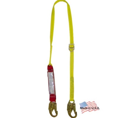 Webb Devices Shocksorb Ls200-3Ss-3.6/Sd 6 Ft L Snap Hook Single Lanyard, 310 Lb Capacity, 1 Leg WEB200-3SS/SD36 WEB200-3SS/SD36