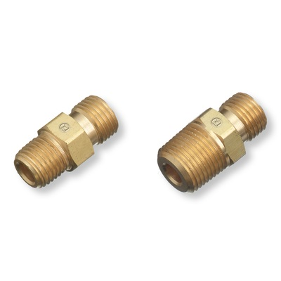 Western 32 Brass Oxygen Regulator Outlet Bushing, 1/4 Inch Rh Male Npt X 1/4 Inch Rh Male Npt 32 WES32