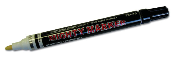 Mighty Marker by Arro-Mark 1 marker PM-16 style Yellow