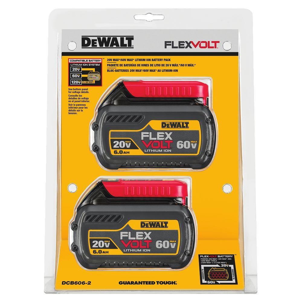 Dewalt dcd606 2 flexvolt 60v 20v lithium ion battery 2 for Avantage batterie lithium ion