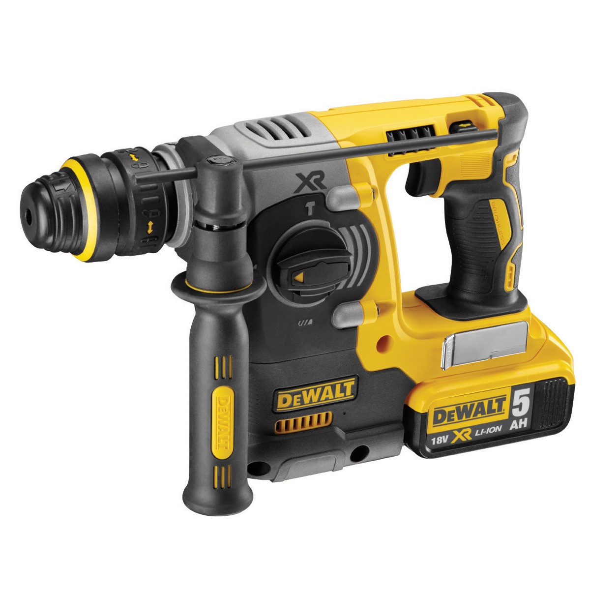 "Dewalt 20V Max XR Brushless 1"" L-Shape SDS Plus Rotary Hammer Kit"