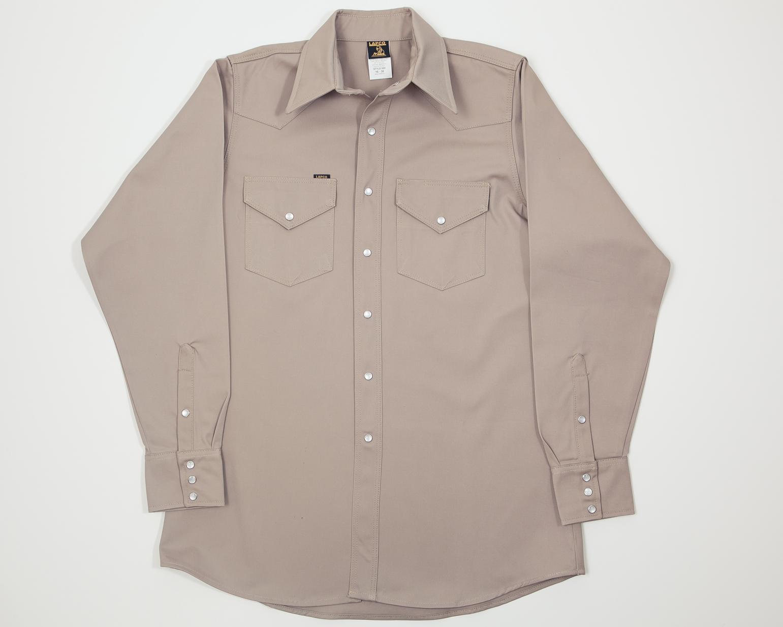 Lapco Ls 16 100 Cotton Heavy Duty Welder Shirt Khaki 16