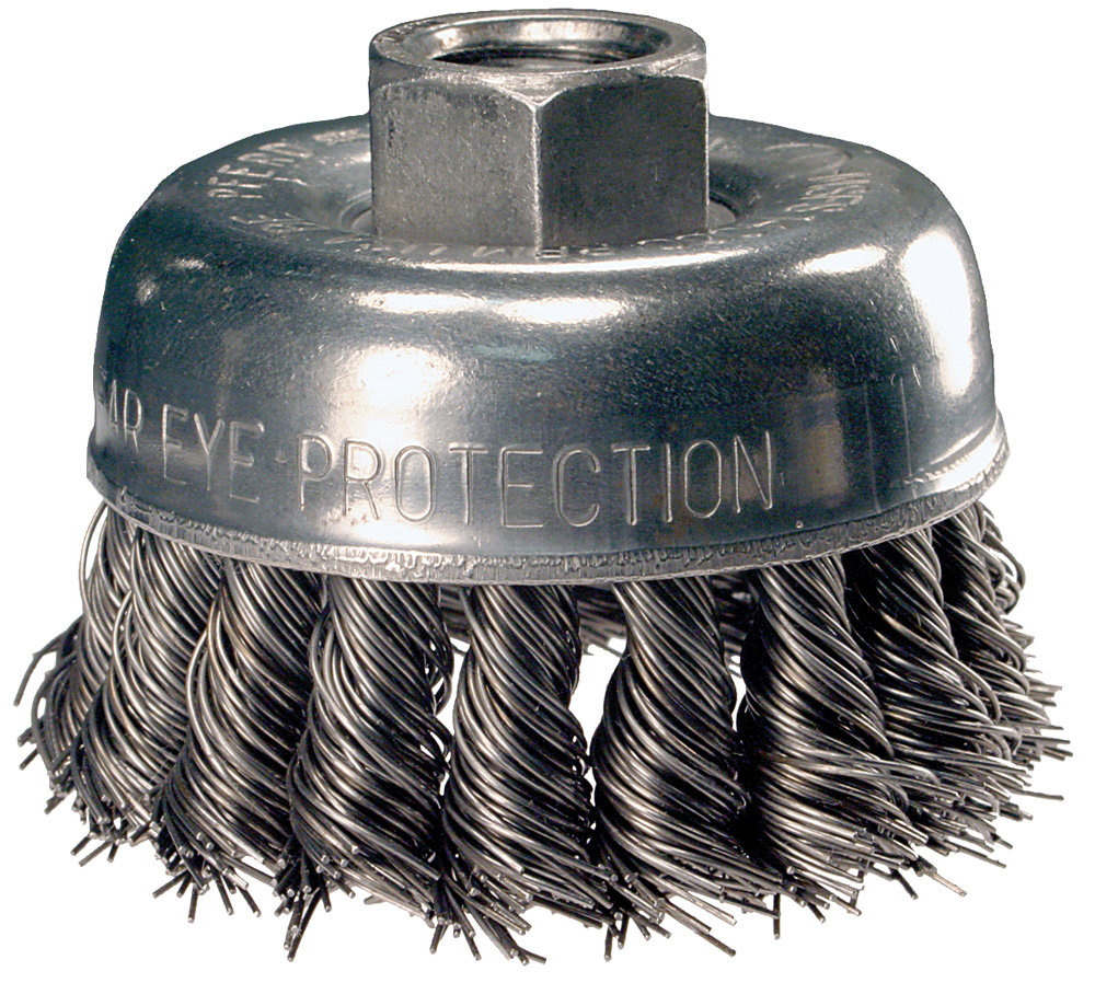 Pferd Advance 82220 Knotted Wire Cup Brush, 2-3/4 Inch Dia., 0.02 ...