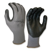 COR6915L - Cordova+Conquest+Plus%e2%84%a2+6915+13+mil+Nylon%2fSpandex+Coated+Gloves%2c+Black%2fGray%2c+Large