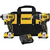 DEWDCK221F2 - DEWALT+X12VMAX+IMPACT+DRIVER+KIT+3%2f8+BRUSH%2fCORDLESS+KIT