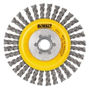 DEWDW4925B - Dewalt%c2%ae+DW4925B+Stringer+Bead+Knotted+Wire+Wheel+Brush%2c+4+Inch+dia.%2c+0.02+Inch+Carbon