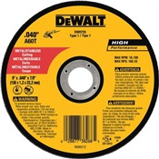 DEWDW8725 - Dewalt+High+Performance+DW8725+60-Grit+AlO2+Type+1+Small+Diameter+Cut-Off+Wheel%2c+6+Inch+x+.040+Inch+x+7%2f8+Inch