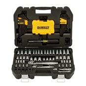 DEWDWMT73801 - DEWALT+DWMT73801+108PC+MECHANICS+TOOL+SET+WITH+PLASTIC+CASE
