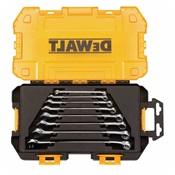 DEWDWMT73809 - DEWALT+TOUGH+BOX+TOOL+KIT%2c+SAE+COMBINATION+WRENCH+SET