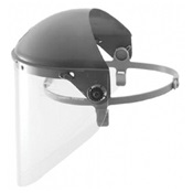 FIBF5500 - Fiber+Metal%c2%ae+High+Performance%c2%ae+F5500+Faceshield+With+Headgear%2c+17+Inch+H+Visor