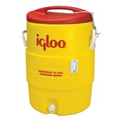 IGL4101 - Igloo%c2%ae+4101+10+gal+HDPE+Water+Cooler%2c+Red+and+Yellow%2c+15.81+Inch+W+x+23.25+Inch+H+x+17.25+Inch+D
