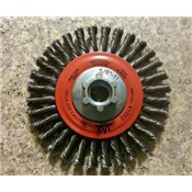 JAZ41052B - JAZ%c2%ae+41052B+Knotted+Wire+Wheel+Brush%2c+4+Inch+dia.%2c+0.02+Inch+Tempered+Steel