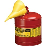 JUS7120110 - JUSTRITE+2-GAL.TYPE-1+RED+GAS+CAN+WITH+FUNNEL+(OLD%23120110)