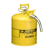 JUS7150210 - JUSTRITE+Yellow+Galvanized+Steel+Type+I+Safety+Can+with+Funnel%2c+5+gal