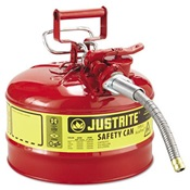 JUS7225120 - JUSTRITE+2+1%2f2+GAL+TYPE-2+SAFETY+GAS+CAN+W%2f5%2f8+HOSE