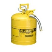 JUS7250230 - JUSTRITE+TYPE+II+ACCUFLOW%26trade%3b+STEEL+SAFETY+CAN+FOR+DIESEL%2c+5+GALLON%2c+1%26quot%3b+METAL+HOSE%2c+YELLOW