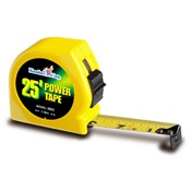 KOM3925 - Komelon+The+Tradesmen%e2%84%a2+3925+Yellow+ABS+Plastic+Case+Power+Tape%2c+25+ft+x+1+Inch+Blade