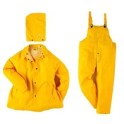 NEE1600S-S - Neese+Industries+1600S+Polyester%2fVinyl+Economy+Rain+Suit%2c+Yellow%2c+Small%2c+Snap