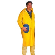 NEE1650C-1X - Neese+Industries+1650+PVC+Coated+Polyester+Economy+Rain+Coat%2c+Yellow%2c+XL%2c+48+Inch+L%2c+Snap+Front