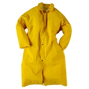 NEE1650C-S - Neese+Industries+1650+PVC+Coated+Polyester+Economy+Rain+Coat%2c+Yellow%2c+Small%2c+Snap+Front