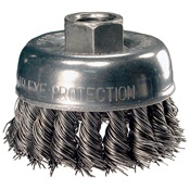 PFE82220 - PFERD+Advance+82220+Knotted+Wire+Cup+Brush%2c+2-3%2f4+Inch+dia.%2c+0.02+Inch+Carbon+Steel+Wire