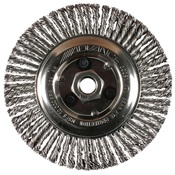 PFE82487 - PFERD+Advance+82487+Knotted+Wire+Wheel+Brush%2c+6+Inch+dia.%2c+0.02+Inch+Carbon+Steel+Wire