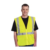 PIP302MVGZ4P2XB - PIP+302-MVGZ4P+100%25+Polyester+Economy+Value+Mesh+Safety+Vest%2c+Lime+Yellow%2c+2XL%2c+28+Inch+L%2c+Zipper